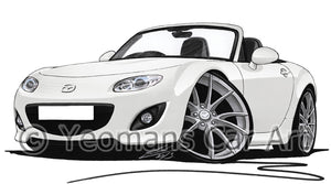 Mazda MX5 (Mk3)(Facelift) - Caricature Car Art Print