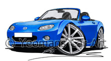 Load image into Gallery viewer, Mazda MX5 (Mk3) - Caricature Car Art Print
