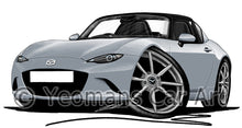 Load image into Gallery viewer, Mazda MX5 (Mk4) RF - Caricature Car Art Print