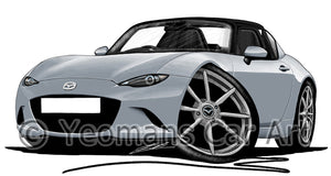 Mazda MX5 (Mk4) RF - Caricature Car Art Print