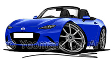 Load image into Gallery viewer, Mazda MX5 (Mk4) - Caricature Car Art Print