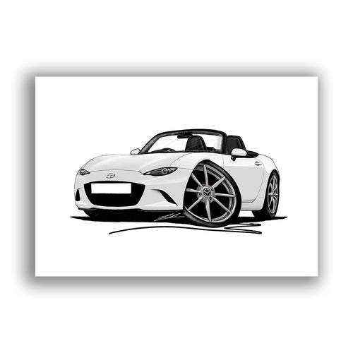 Mazda MX5 (Mk4) - Caricature Car Art Print