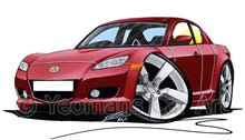 Load image into Gallery viewer, Mazda RX8 - Caricature Car Art Print
