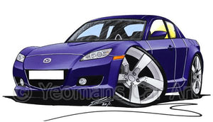 Mazda RX8 - Caricature Car Art Coffee Mug