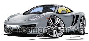McLaren MP4-12c - Caricature Car Art Print