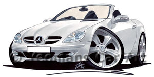 Mercedes SLK 350 - Caricature Car Art Coffee Mug