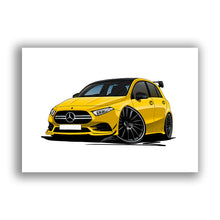 Load image into Gallery viewer, Mercedes A-Class A35 AMG - Caricature Car Art Print