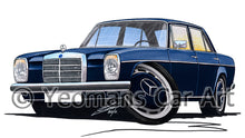 Load image into Gallery viewer, Mercedes 220 (W115) - Caricature Car Art Print