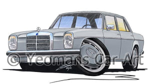 Mercedes 220 (W115) - Caricature Car Art Coffee Mug