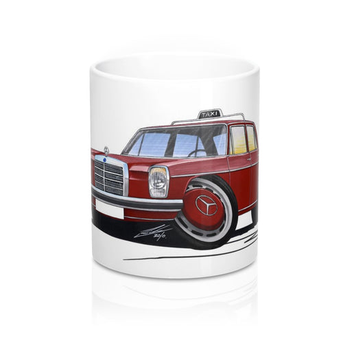 Mercedes 220 (W115) Taxi - Caricature Car Art Coffee Mug