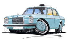 Load image into Gallery viewer, Mercedes 220 (W115) Taxi - Caricature Car Art Print