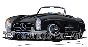 Mercedes 300SL Convertible - Caricature Car Art Coffee Mug