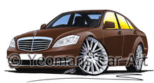 Load image into Gallery viewer, Mercedes S-Class (W221) - Caricature Car Art Print