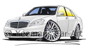 Mercedes S-Class (W221) - Caricature Car Art Coffee Mug