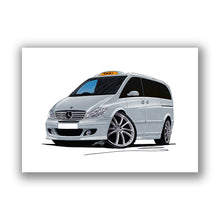 Load image into Gallery viewer, Mercedes Viano Taxi - Caricature Car Art Print