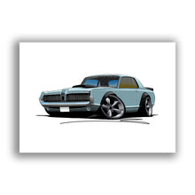 Load image into Gallery viewer, Mercury Cougar (1968) - Caricature Car Art Print