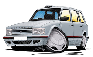 Metrocab - Caricature Car Art Print