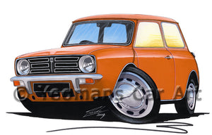 Mini Clubman - Caricature Car Art Print