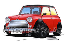 Load image into Gallery viewer, Mini Cooper (Yeo-F)- Caricature Car Art Print