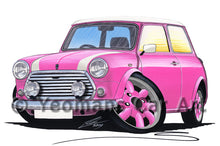 Load image into Gallery viewer, Mini Cooper (Yeo-B)- Caricature Car Art Print