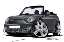 Load image into Gallery viewer, MINI (Mk2)(R57) Cooper Convertible - Caricature Car Art Print