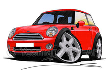 Load image into Gallery viewer, MINI (Mk2)(R56) Cooper - Caricature Car Art Print