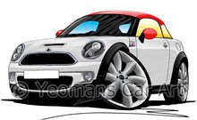 Load image into Gallery viewer, MINI (Mk2)(R58) Coupe - Caricature Car Art Print