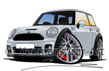 Load image into Gallery viewer, MINI (Mk2)(R56) John Cooper Works - Caricature Car Art Print