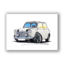 Load image into Gallery viewer, Mini Cooper (Yeo-A)- Caricature Car Art Print