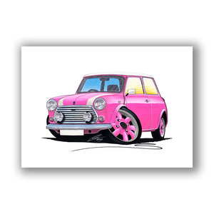 Mini Cooper (Yeo-B)- Caricature Car Art Print