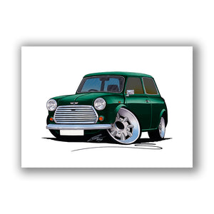 Mini Cooper (Yeo-D)- Caricature Car Art Print