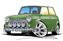 Load image into Gallery viewer, Mini Cooper (Yeo-E)- Caricature Car Art Print