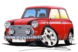Mini Cooper (Italian Job Edition) - Caricature Car Art Coffee Mug