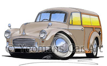 Load image into Gallery viewer, Morris Minor Traveller - Caricature Car Art Coffee Mug