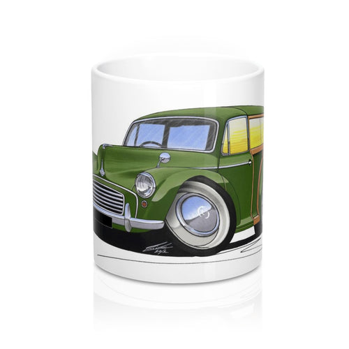 Morris Minor Traveller - Caricature Car Art Coffee Mug