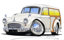 Load image into Gallery viewer, Morris Minor Traveller - Caricature Car Art Print