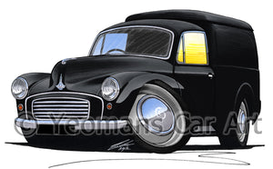 Morris Minor Van - Caricature Car Art Print