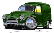 Load image into Gallery viewer, Morris Minor Van - Caricature Car Art Print
