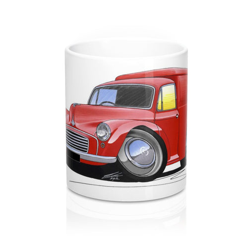 Morris Minor Van - Caricature Car Art Coffee Mug