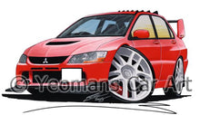 Load image into Gallery viewer, Mitsubishi Evo IX - Caricature Car Art Coffee Mug