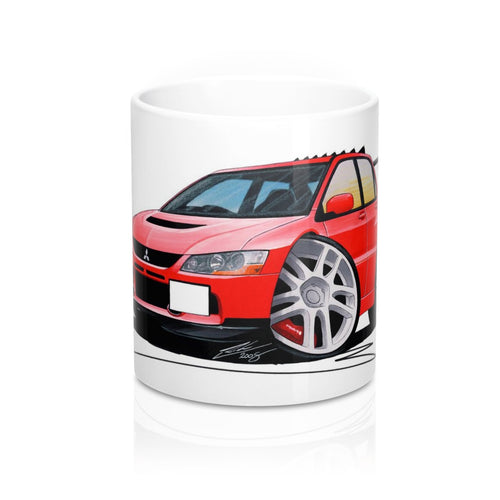 Mitsubishi Evo IX - Caricature Car Art Coffee Mug