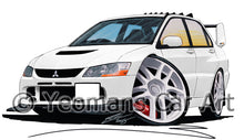 Load image into Gallery viewer, Mitsubishi Evo IX - Caricature Car Art Print