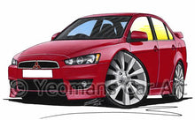Load image into Gallery viewer, Mitsubishi Lancer GS3 - Caricature Car Art Coffee Mug
