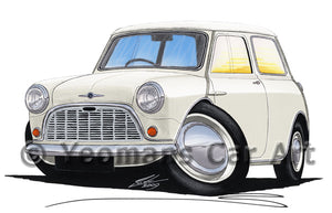 Morris Mini-Minor / Mini (Mk1) - Caricature Car Art Print