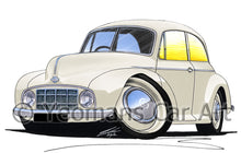 Load image into Gallery viewer, Morris Minor MM - Caricature Car Art Print