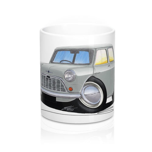 Morris Mini-Minor / Mini (Mk1) - Caricature Car Art Coffee Mug