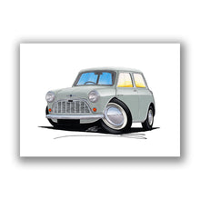 Load image into Gallery viewer, Morris Mini-Minor / Mini (Mk1) - Caricature Car Art Print