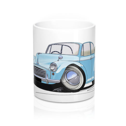 Morris Minor Convertible - Caricature Car Art Coffee Mug