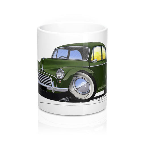 Morris Minor (4dr) - Caricature Car Art Coffee Mug