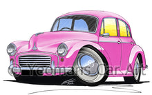 Load image into Gallery viewer, Morris Minor (4dr) - Caricature Car Art Print